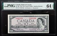 1954 Bank of Canada $10 Modified Portrait G/V9481356 PMG CH.UNC64 EPQ BC-40b