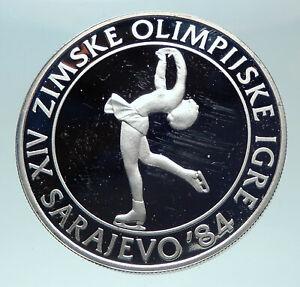 1983 YUGOSLAVIA Sarajevo XIV Olympic Games ICE Figure Skating Silver Coin i82041