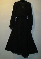 Dress 1X 2X Plus Black Maxi and Mini Lined Skirt Chiffon Flowing Sash Belt NWT