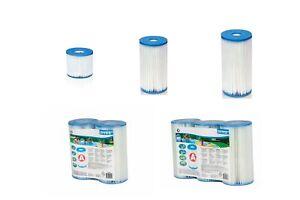 Intex Filterkartusche Typ A  B oder H Pool Filter Krystal Clear Filterpumpen