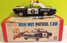 Bandai vintage tin Highway Patrol Car w/ original Box 1970 Japan excellent