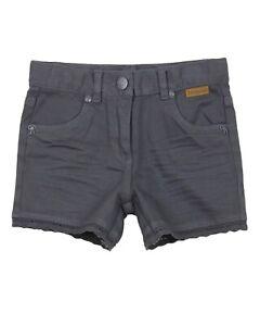 BOBOLI Girl's Twill Shorts in Dark Grey, Sizes 4-16