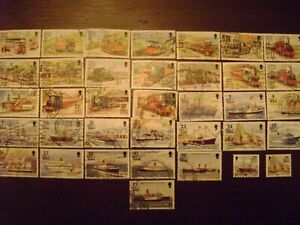 Great Britain GB Isle of Man 36 used Railways, Tramways and Ships