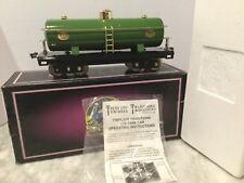 MTH 10-1051 # 215   STANDARd GAUGE GREEN TANk CAR NEW IN OB