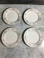 "4 DIANE FINE PORCELAIN CHINA WADE BREAD PLATES 6 3/8"" EUC dinnerware vintage"