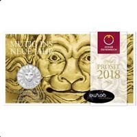 Pièce 5 euros commémorative AUTRICHE 2018 - Le Nouvel An - Argent 800/1000