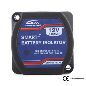0-727-33 GEARMON-SPLIT CHARGE RELAY 12V 140A 140 AMP VOLTAGE SENSITIVE-CAMPERS