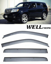WellVisors Lexus GS Series 13-17 Sleek HD Side Window Visors Smoke Chrome Trim