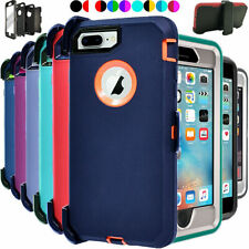 For iPhone 7 8 Plus Shockproof Case Cover W/Belt Clip {Fits Otterbox Defender}
