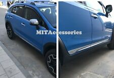 Subaru XV Crosstrek 2013-up door body side molding chrome trim moulding