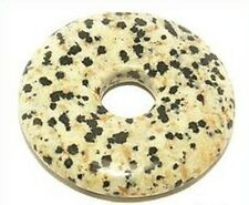 1 Dalmatiner-Jaspis  Donut ca. 40 x 40mm