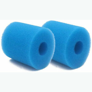 2X Blue Swimming Pool Filter Foam Reusable Washable Compatible with Intex Type H