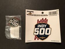 2019 INDY 500 Event Decal Sticker and Event Lapel Pin