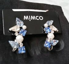 ❤❤❤ NEW MIMCO GIDGET EAR CUFF Crystal clear / Blue with Perls + MIMCO dust bag ❤