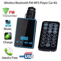 S6 Bluetooth Inalámbrico Transmisor de FM MP3 Reproductor LCD Kit Cargador