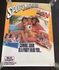 RARE Original Vintage BUD LIGHT BUDWEISER Beer Poster Spuds Mackenzie and Girls