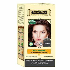 Indus Valley 100% Certified Organic Mahogany Hair Colour Free Ship