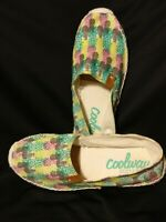 Coolway Jackie Multi Colored Slip On Summer Women's Shoe Flat Size 8.5 EUC