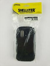 Amzer Shellster Black Phone Case with Holster for HTC Amaze 4G