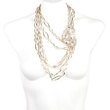 Alexis Bittar Gold Jagged Diamond Multi Strand Link Necklace.****NEW***$795****