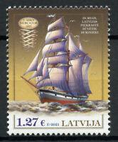 Latvia Ships Stamps 2021 MNH Three-Mast Barquentine History of Navigation 1v Set
