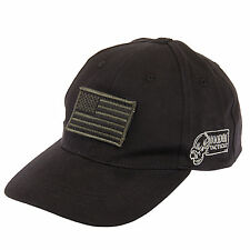 VOODOO TACTICAL Black Operator Contractor CAP Hat w/ USA FLAG Patch Ships in Box
