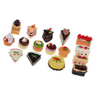 16 Pieces Kitchen Food Resin Jam Cake Model Doll House Miniature 1/12 Scale