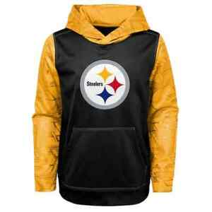 Pittsburgh Steelers NFL Boys Performance Hoodie, Size S (6/7) - New With Tag