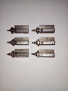 6x SMC CDJPB6-5D Compact Cylinders - Good Condition