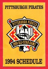 Pittsburgh Pirates 1994 Pocket Schedule – MLB – Giant Eagle