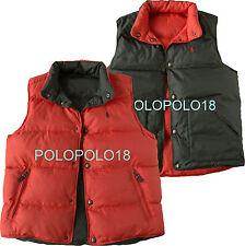 New Polo Ralph Lauren Pony Reversible Down Vest S M XL