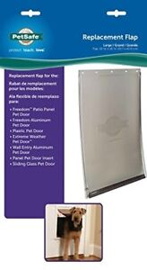 Large Size Flap Freedom Replacement Pet Door Premium Aluminum Dog Cat Safe L