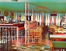 1965 LA Baton Rouge MORECOS PIANO BAR Unique Interior  5.5x7 postcard