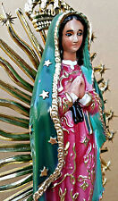 Virgen De Guadalupe, Our Lady Of Guadalupe STATUE 12 INCH Handcrafted VIRGENCITA