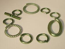 Verbinder Ringe Knebel Verschluss Mix Set 10 teilig 14-27mm  bronjze #L38
