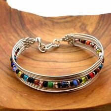 Beaded Wire Bracelet Handmade in India by Artisans Fair Trade