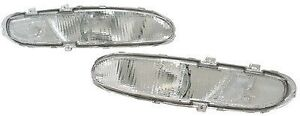 fit 93-97 Ford Probe BASE MODEL Clear Front Bumper Signal Lights Pair