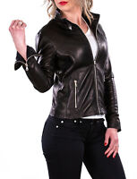 Giacca Giubbotto in di Pelle Donna Women Leather Jacket Femme Blouson en Cuir A3