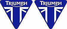 Triumph 2 Aufkleber für  Motorrad Auto oder sonstwo  moto sticker decal