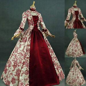 Medieval Renaissance Women's Victorian Princess Dress Ball Gown Palace Costume