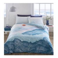 Nami Waves Duvet Cover Single Double Super King Size Reversible Bedding Set
