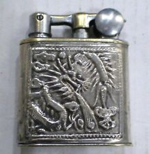 Briquet Ancien @ MYON 201 Indochine ARGENT @ Solid Silver Lighter Feuerzeug