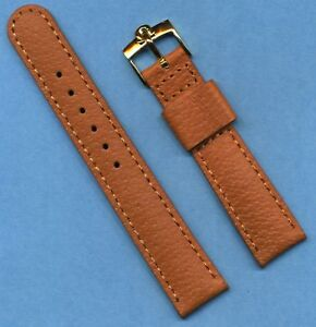 18mm GENUINE WILD BOAR STRAP FITS CONSTELLATION LEATHER LIN & GOLD OMEGA BUCKLE