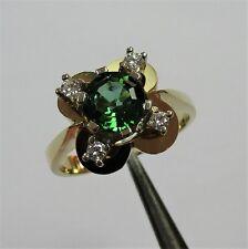 697 - Edler Ring aus Gelbgold 585 mit Turmalin und Brillanten - 2206