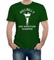 Hillbilly Hog Wrestling Champ t shirt - Funny t-shirt comic wrestling redneck