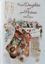 FOR YOU DAUGHTER AND YOUR PARTNER - DAUGHTER & PARTNER CHRISTMAS CARD