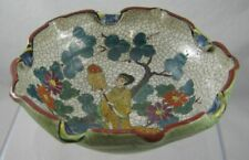 Japan Art Pottery-  Crackle - hand painted bowl