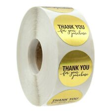 1 Inch Round Gold Foil Thank You For Your Purchase Stickers / 500 Labels Pe E4U6