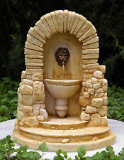 Miniature Dollhouse FAIRY GARDEN Furniture ~ Tan Resin Fountain ~ NEW