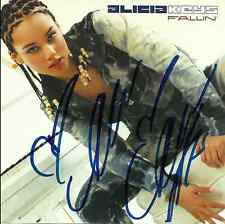 Alicia Keys signed Fallin promo cd single